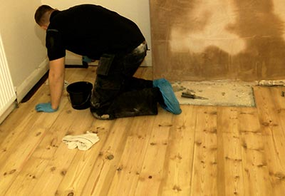 ... brushing stain wood floor ... - How To Stain Hardwood Floors Like A PRO How To Sand A Floor
