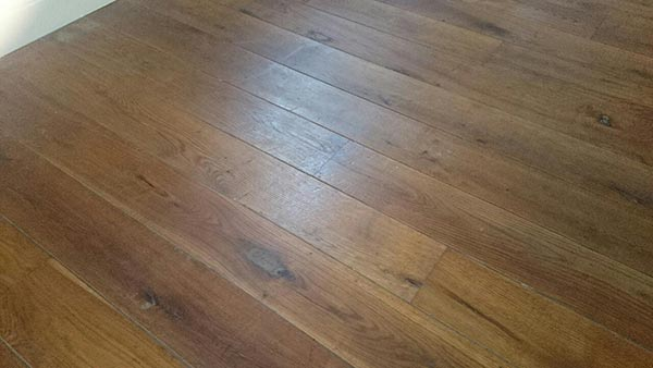 This is an oiled floor that has darkened, though this is darker than usual, its just to illustrate.